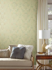 EM3865 Framed Ombre Damask Wallpaper