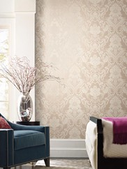 EM3888 Formal Lacey Damask Wallpaper
