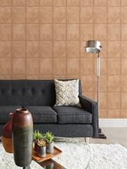 Copper Riveted Industrial Tile Wallpaper