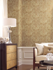 GF0788 Aida Damask W/ Stripe Wallpaper