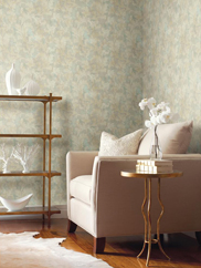 GF0821 Raised Leaf Velvet Vine Wallpaper