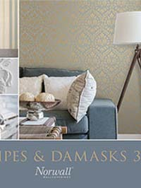 Wallpapers by Stripes & Damasks 3 Book