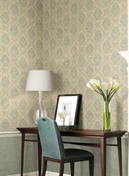 Taupe and Blue Damask JR5767