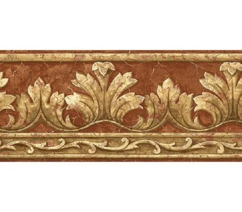 Crown acanthus leaf wallpaper border at75162b art for Wallpaper and borders