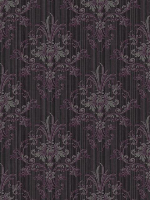 Floral Damask and Stripes Sidewall
