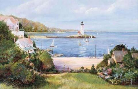 Lighthouse Cove - Wall Mural