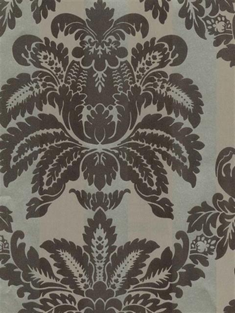 Textured Floral Harlequin Damask on Stripes Sidewa | DS106639 | Damask, Stripe & Toile Library Book