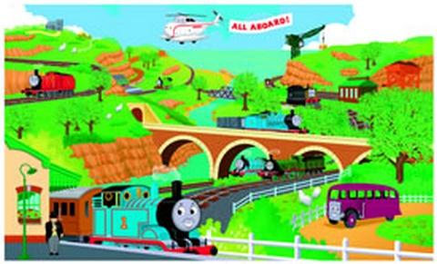 Thomas and Friends TM Pre-Pasted Mural
