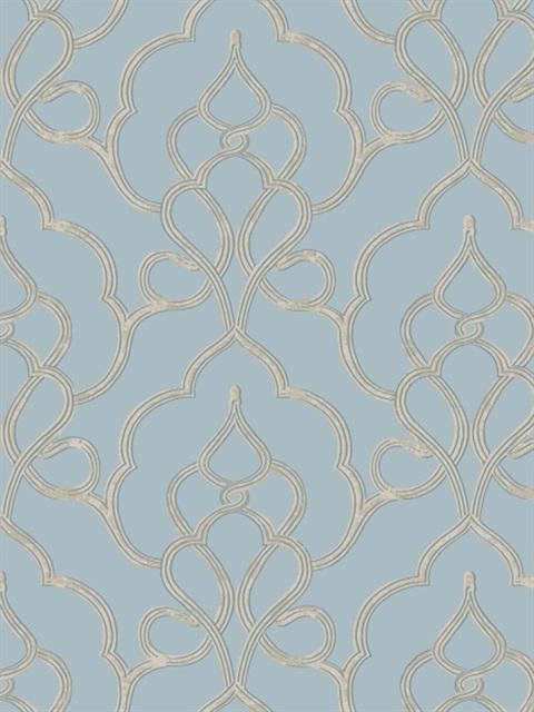 Fl6520 Tiara Damask Wallpaper