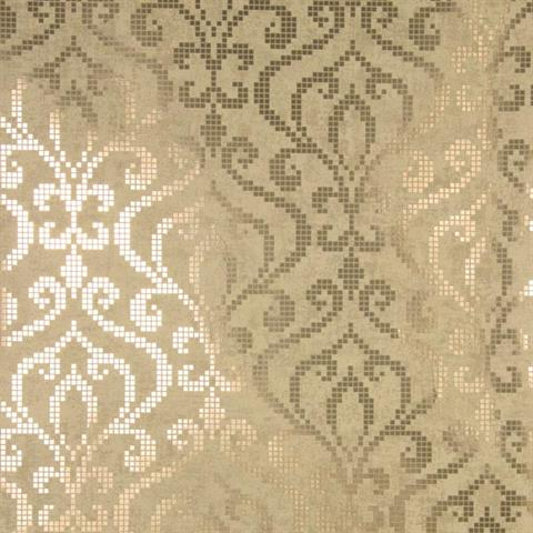 Venus Brass Foil Mini Damask