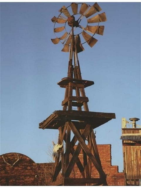 Western windmill wall mural umb91077 the ultimate for Cowboy wall mural