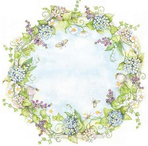 Wreath - Wall Mural