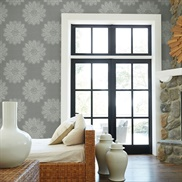 2793-24746 Sol Slate Medallion Wallpaper