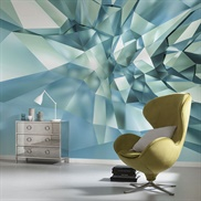 8-879, 3D Crystal Cave Wall Mural