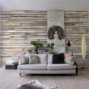 8-920, Whitewashed Wood Wall Mural
