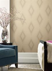 Beige and Silver Aspen Wallpaper