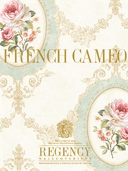 French Cameo Collection wallpaper room scene 1