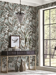 conservatory wallpaper room scene 7