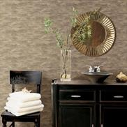 Charcoal and Gold Impressions Faux HZN43117