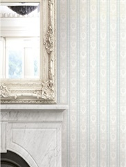 1730902 Traditional Crest Striped Wallpaper