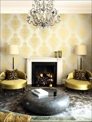 ON40005 Damask Wallpaper