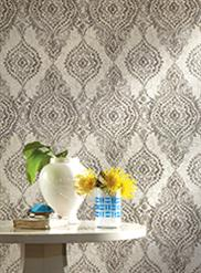 Grey Boho Chic Damask  WH2710