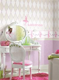 Girls wallpaper for bedrooms | Twin girls bedroom ideas