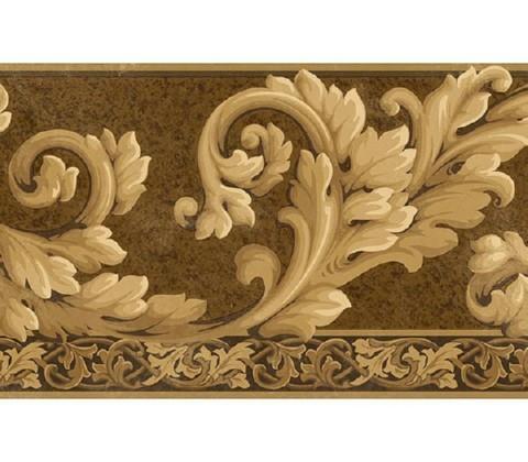acanthus wave wallpaper border at75113b art and texture wall