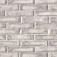 Appleton Dark Grey Faux Weathered Brick Wallpaper