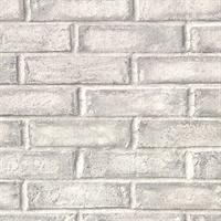 Appleton Grey Faux Weathered Brick Wallpaper