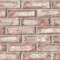 Appleton Maroon Faux Weathered Brick Wallpaper