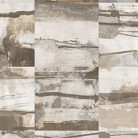 Aquarelle Tile Wallpaper in Beige & Greys