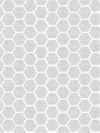 Aura Grey Honeycomb Wallpaper
