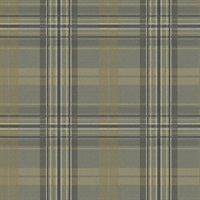 Austin Charcoal Plaid Wallpaper