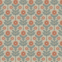 Aya Beige Floral Wallpaper