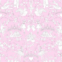 Ballet Toile Wallpaper