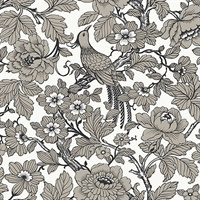 Beaufort Black Peony Chinoiserie Wallpaper
