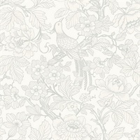 Beaufort Dove Peony Chinoiserie Wallpaper