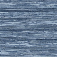 Bellport Denim Wooden Slat Wallpaper