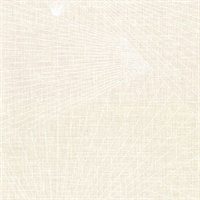 Berkeley Cream Geometric Faux Linen Wallpaper