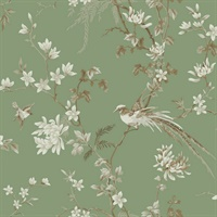 Bird And Blossom Chinoserie Wallpaper