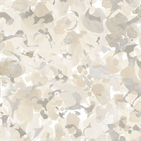Bloom Wallpaper in Beige & Browns