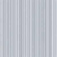 Blue Stria Stripe Wallpaper