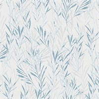 Bondi Blue Botanical Wallpaper