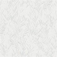 Bondi Light Grey Botanical Wallpaper