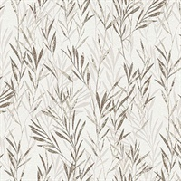 Bondi Taupe Botanical Wallpaper