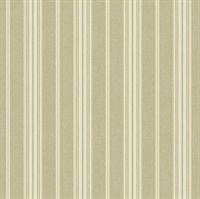 Cooper Wheat Cabin Stripe Wallpaper