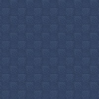 Calabash Navy Rope Basketweave Wallpaper
