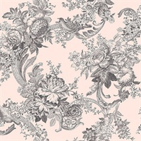 Carmel Blush Baroque Florals Wallpaper
