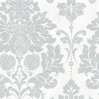 In Register Damask Wallpaper